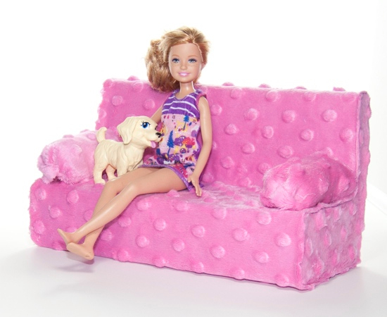 Easy DIY Barbie Couch