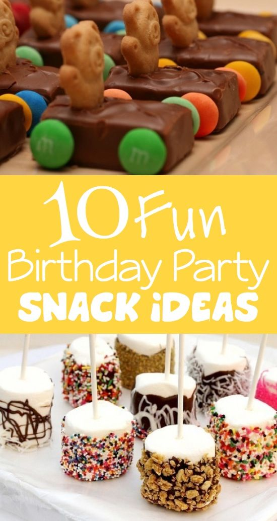 10 Fun Birthday Party Snack Ideas Kids Kubby