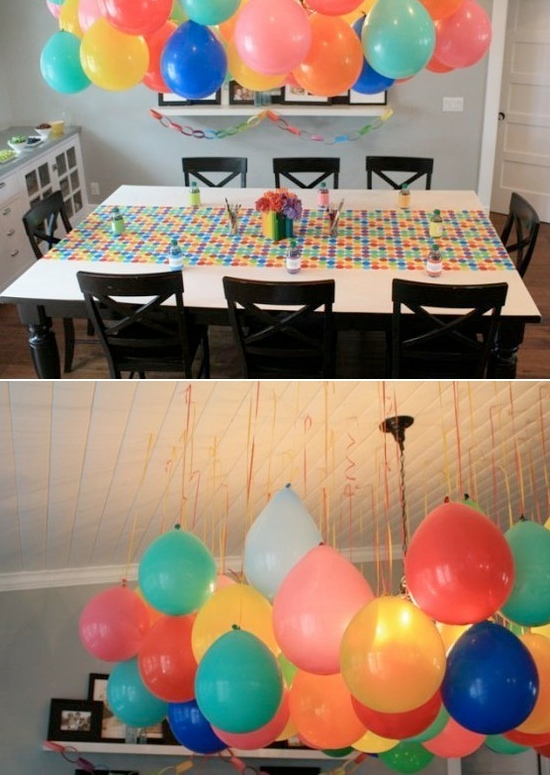 Helium balloons decoration ideas party favors ideas for Birthday balloon ideas