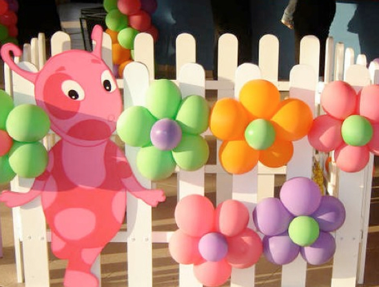 Birthday party balloon decoration ideas for Balloon decoration images party