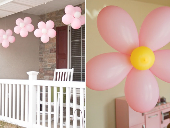 Make balloon decorations party favors ideas for Balloon decoration how to make