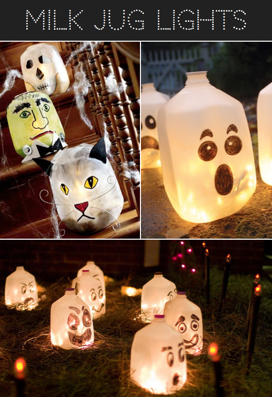 Halloween Milk Jug Luminaries