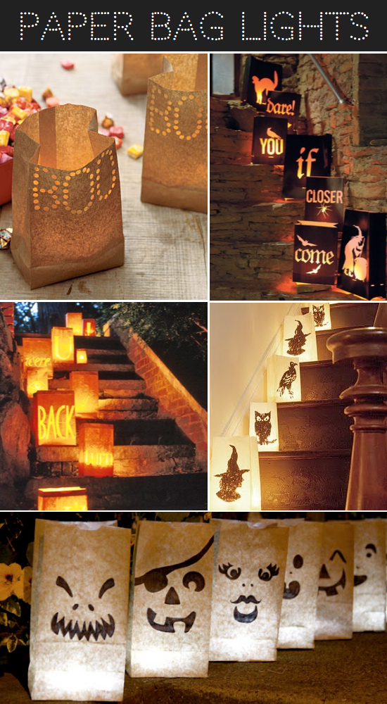 Paper Bag Luminaries Halloween