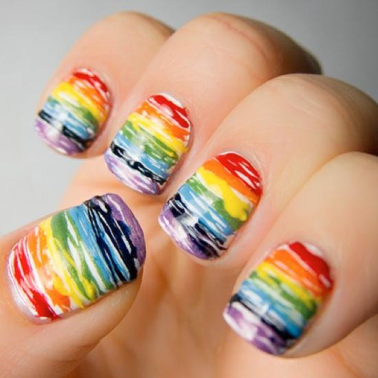 Rainbow Nail Art - Rainbow Nail Art - Kids Kubby