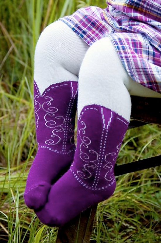 Cowgirl Boot Tights - Kids Kubby