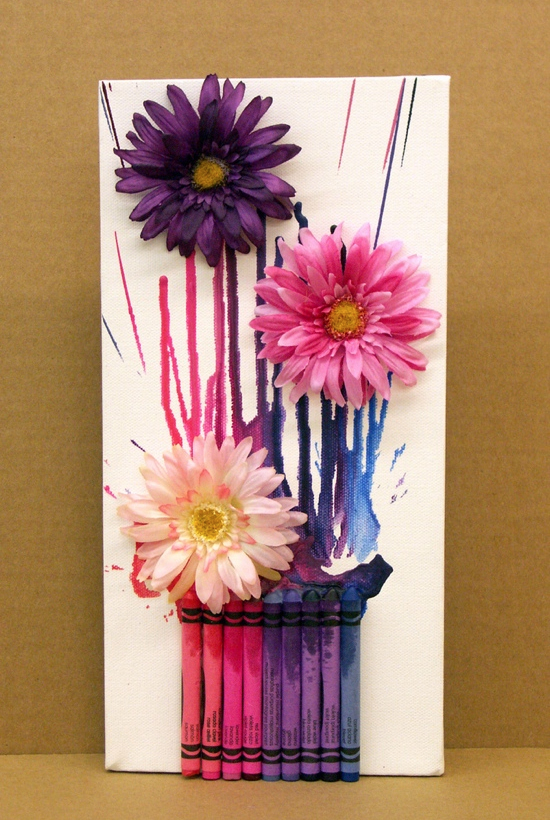 Melted Crayon Art Projects Kids Kubby