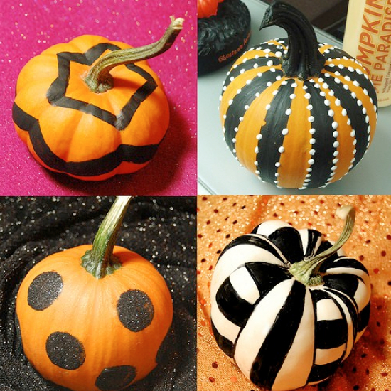 8 easy pumpkin ideas without carving Easy pumpkin painting patterns