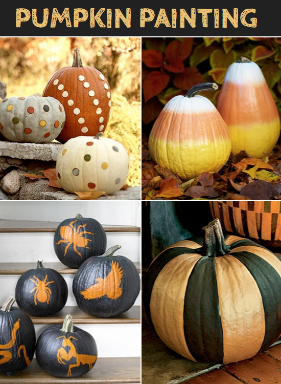 8 easy pumpkin ideas without carving Funny pumpkin painting ideas