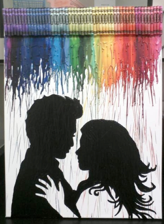 Crayon art on pinterest melted crayon art melted for Arts and crafts ideas for couples