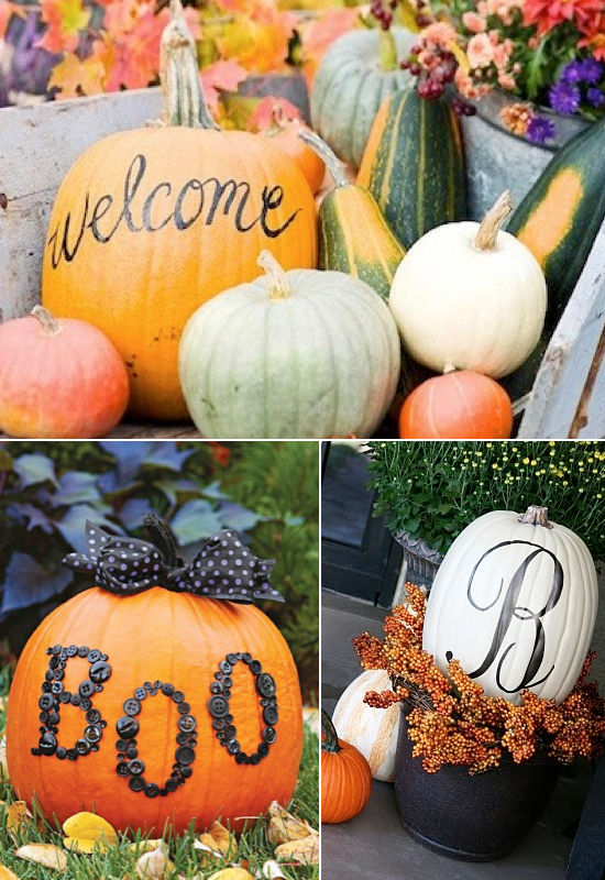 Pumpkins With Letters