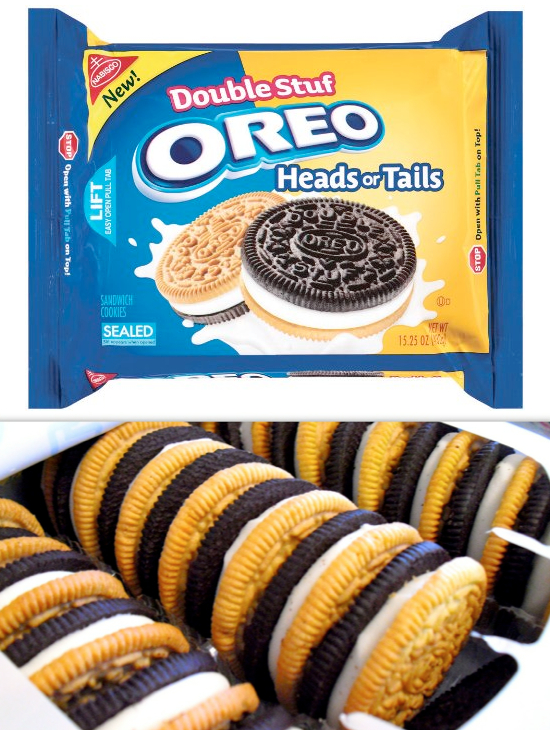 21 double stuf heads or tails oreos