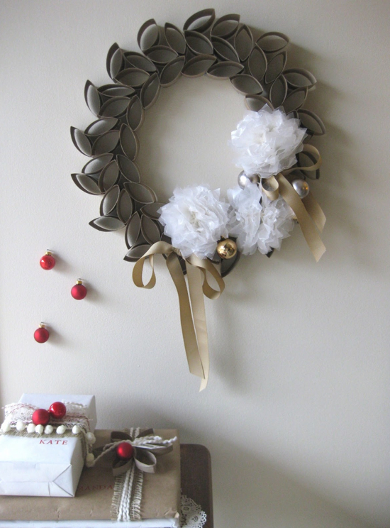 DIY Toilet Paper Roll Wreath