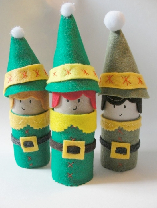 Toilet Paper Roll Elves | Pinterest Christmas Crafts