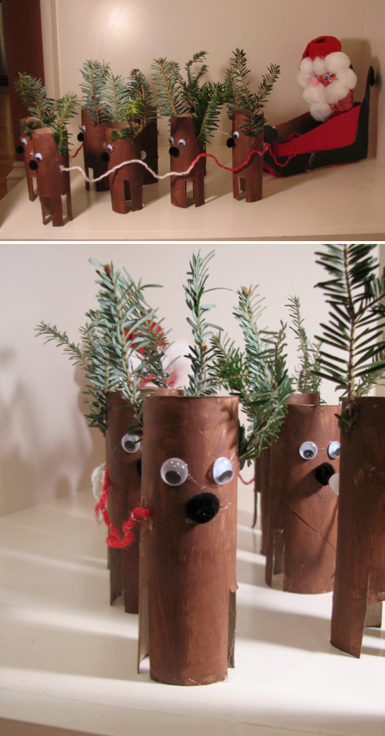 Toilet Paper Roll Reindeer | Pinterest Christmas Crafts