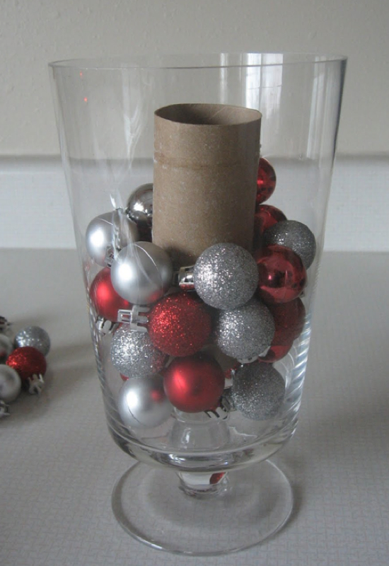 Toilet paper roll vase filler
