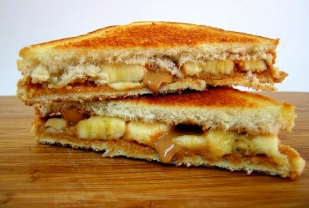 Grilled Peanut Butter Banana Bacon Sandwich