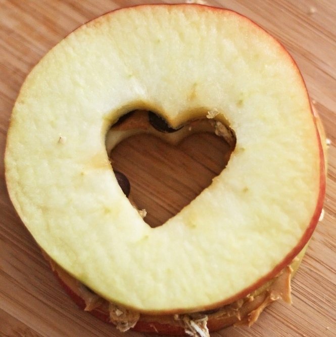 Apple Heart Sandwiches