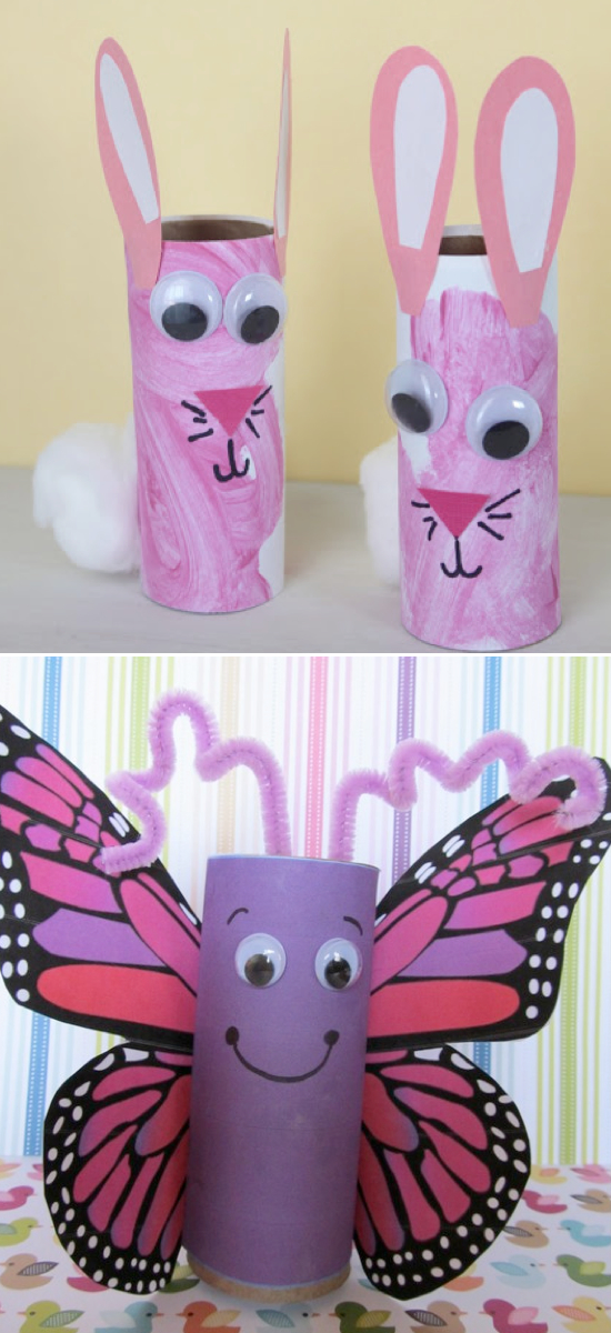 toilet paper roll crafts for kids | Pinterest crafts for kids.