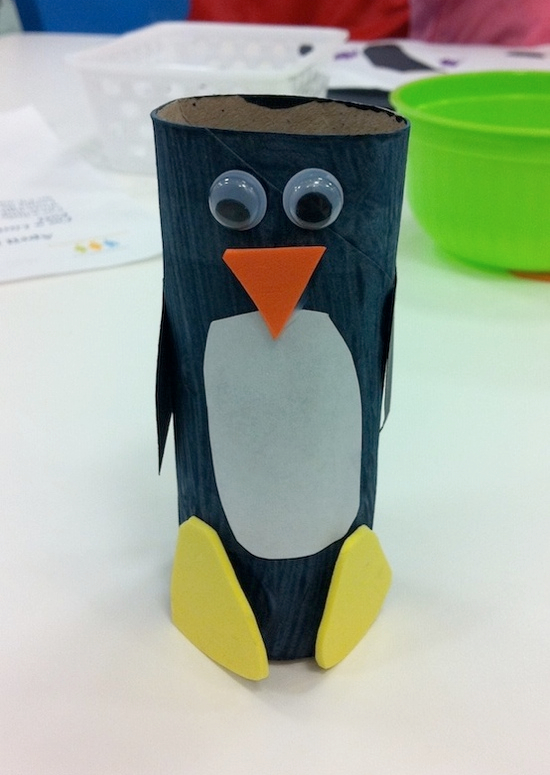 toilet paper roll penguin | Pinterest crafts for kids.